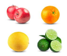 Red Apples fresh diet fruit with vitamins, Fresh orange fruit