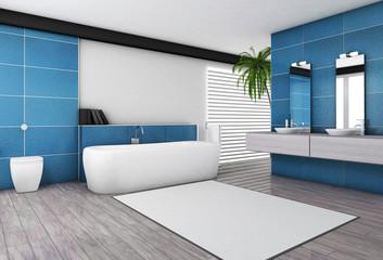 Modern Bathroom Aquamarine Interior