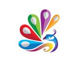 Beauty Peacock Logo Vector