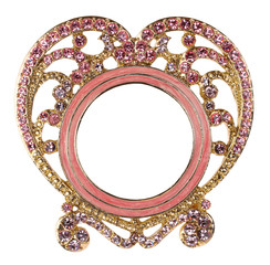 Pink Heart Rhinestone Picture Frame