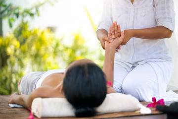 Relaxation massage outdoor