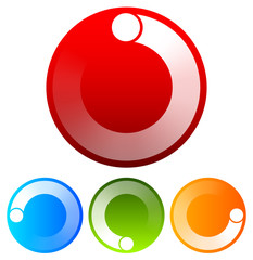 Preloader, circular shape. Segmented circle