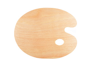 New wooden palette, isolated on white background