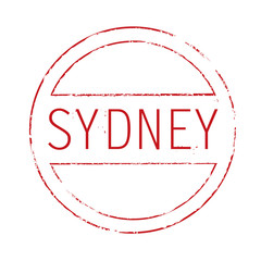 Vector stamp of Sydney