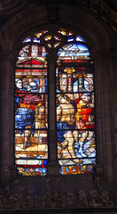 Christ Soldiers Stained Glass Salamanca New Cathedral Spain