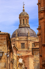 Stone Street Dome New Salamanca Cathedral Spain