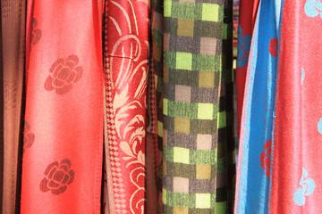 Colorful Thai silk