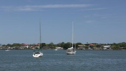 Boats near Saint Augistine, Florida in 4K