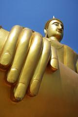 Hand of golden buddha.
