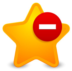 Remove from favourites icon