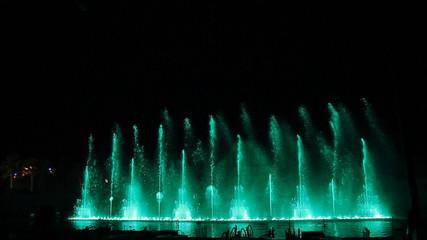 Amazing dancing fountain