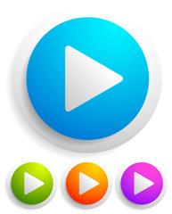 Modern play button graphics