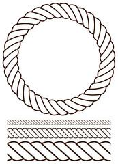 Rope vector set. Contour version.