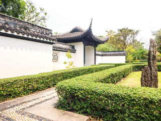 Chinese architecture for decoration in the park