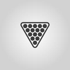 The billiard icon. Billiards symbol. Flat