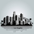 Los Angeles city silhouette. - 80661566