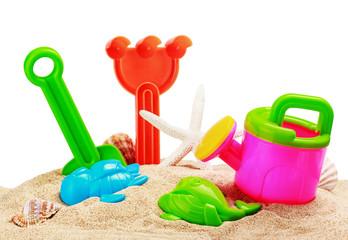 toys for sandbox isolated on white