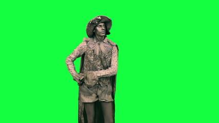 Living statue bows Chromakey