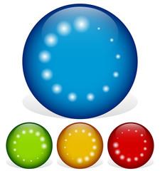 Circular graphics rotated at 45 degrees - Preloader, buffer shap