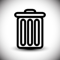 Trash can symbol. eps10.