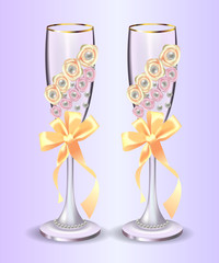champagne glasses for wedding decorations