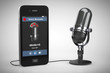 Mobile Phone as Voice Recorder with Microphone - 80664395