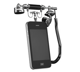 Mobile Phone as Vintage Telephone