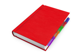 Red Organizer Notebook