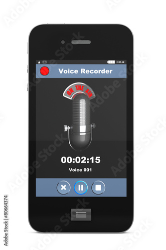 Mobile Phone as Voice Recorder - 80664374