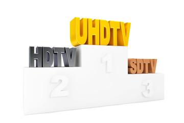 TV Digital Technology over Winners Podium