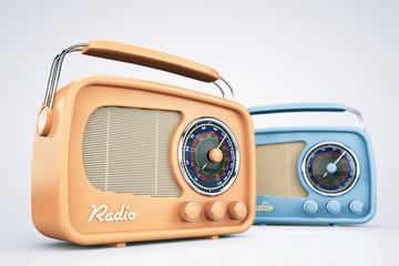 Closeup Vintage Radios