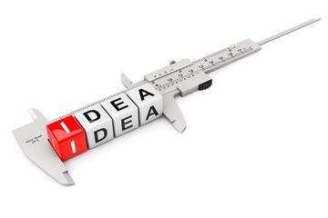 Caliper Measure Idea Cubes
