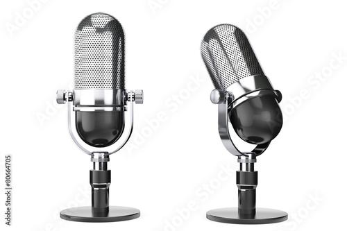 Vintage silver microphone - 80664705