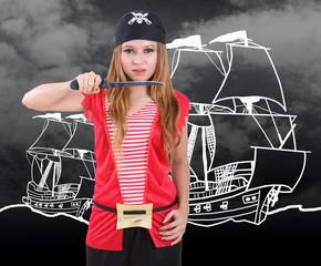 sexy pirate woman
