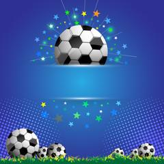 football celebration concept banner