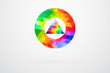 Circle And Triangle Color Palette Guide Spectrum Vector
