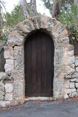 Alte Tür an Ruine