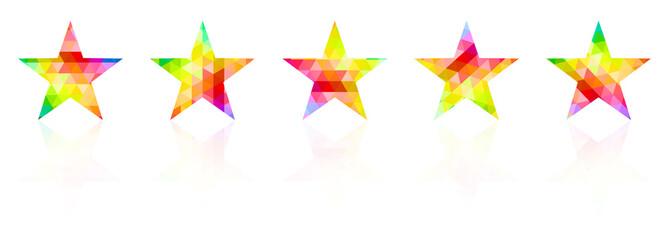 Five Star Award Color Palette Guide Spectrum Vector