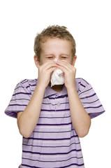 boy blow nose vertical