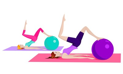 women doing pilates