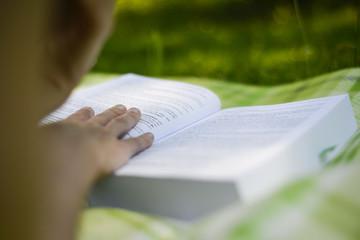 Lesen beim Picknick