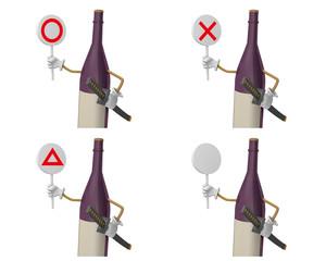 判定する酒のキャラクター