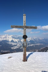 Crucifix on the top of Gasselhohe, Austria