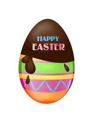 Happy Easter greeting egg
