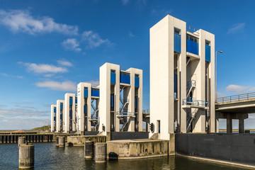 Sluice in Lelystad, Netherlands