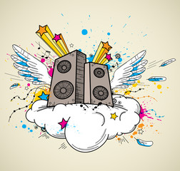 Music speakers and cloud