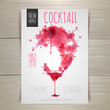 Watercolor cocktail poster - 80670332