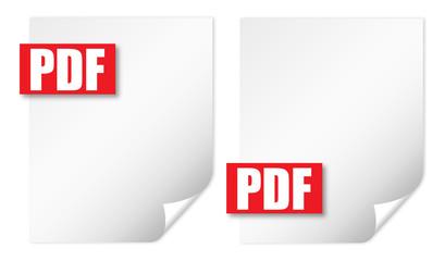 2 wrapped sheet pdf vector illustration