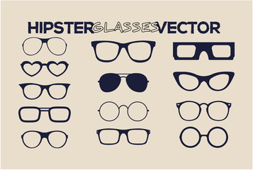 Fashion hipster glasses vector style