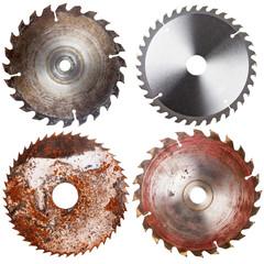 Set of circular saw blades